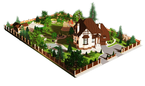 Частный дом с землей