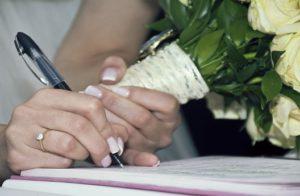 Подписание брачного договора